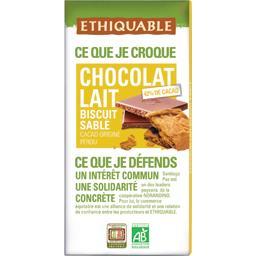 Chocolat au lait 42% biscuit sablé BIO
