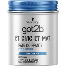 Got2B - Pâte coiffante matifiante Et Chic Et Mat