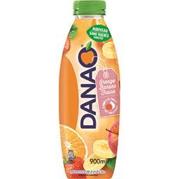 Danao Boisson orange banane fraise sans sucres ajoutés la bouteille de 900 ml