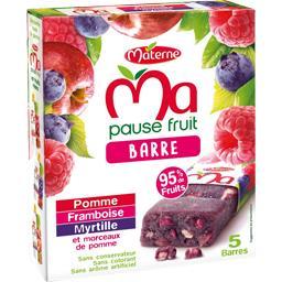 Ma Pause Fruit - Barre aux fruits pomme framboise myrtille