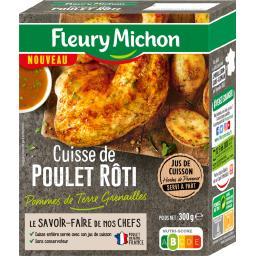 Cuisse de poulet rôti pommes de terre grenailles