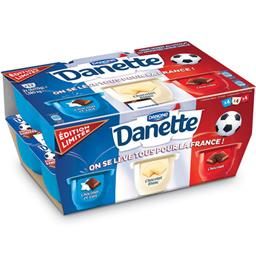 Danette - Crème dessert chocolat et lait, chocolat blanc et chocolat