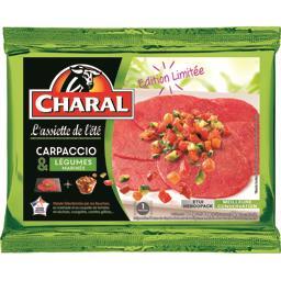 Charal Carpaccio & légumes marinés la barquette de 175 g