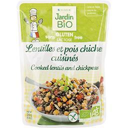 Lentilles et pois chiches BIO cuisinés sans gluten/l...
