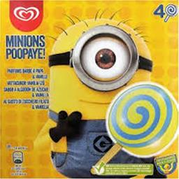 Glaces Minions Poopaye parfums barbe à papa & vanille