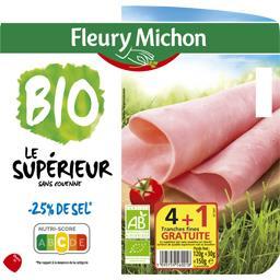 Jambon Le Supérieur sans couenne sel réduit BIO