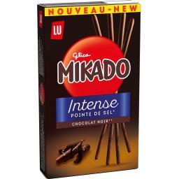 Mikado - Biscuits Intense chocolat noir pointe de se...