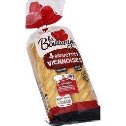 Baguettes viennoises déjà fendues