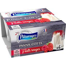 Panna Cotta et son coulis de fruits rouges