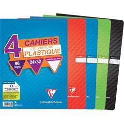 Cahier piqure 240x320 seyès coloris assortis