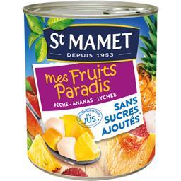 Mélange de pêche ananas lychee Mes Fruits Paradis