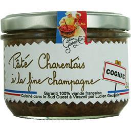 Lucien Georgelin Pâté charentais à la fine champagne Cognac le pot de 220 g