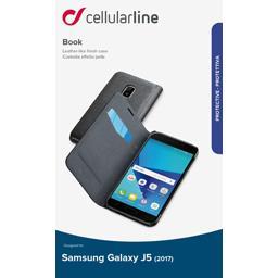 Etui rabat portefeuille noir pour Samsung Galaxy J5