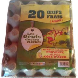 Val d'eurre Gros œufs frais La boîte de 20