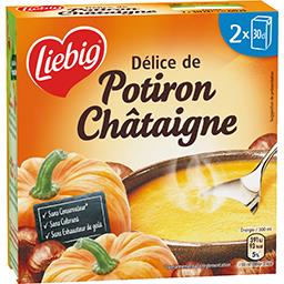 Soupe potiron châtaignes Liebig