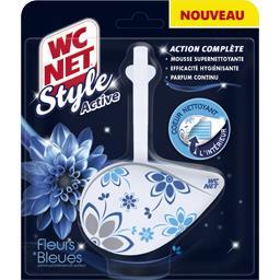 Bloc WC Style Active, fleurs bleues