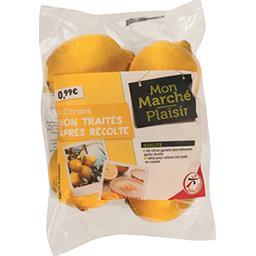 Citrons non traités après récolte, le sachet de 4 ci...
