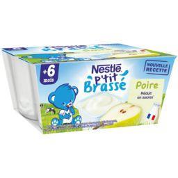 P'tit Brassé - Dessert poire, 6+ mois