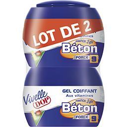 Gel coiffant fixation Béton force 9