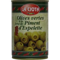 Olives vertes à la farce de piment d'Espelette