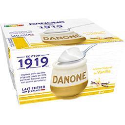 Danone 1919 - Yaourt au lait entier arôme naturel de vanill...