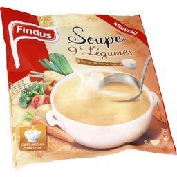 Soupe 9 légumes & pointe de crème fraîche