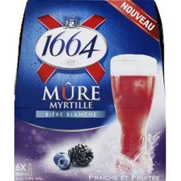 Bière blanche mûre myrtille