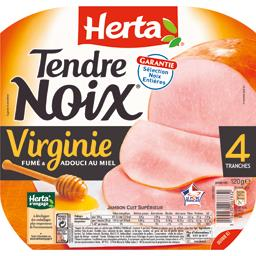 Tendre Noix Le Virginie jambon,HERTA,la barquette de 4 tranches - 120g