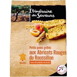 Petits pains grillés abricots du Roussillon & pépites fruits