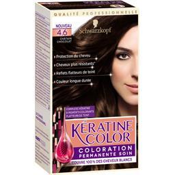 Kératine Color - Coloration châtain chocolat 4.6