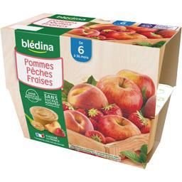 Desserts pommes pêches fraises, de 6 à 36 mois