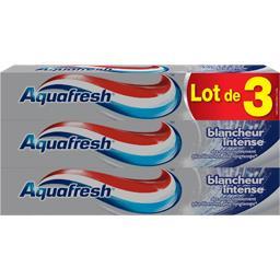 Aquafresh Dentifrice au fluor blancheur intense les 3 tubes de 75 ml