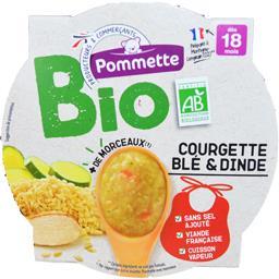 Courgette blé & dinde BIO, dès 18 mois