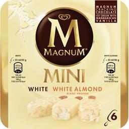 Mini glaces White et chocolat blanc amande