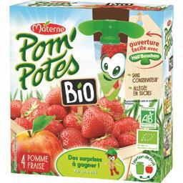 Pom'Potes BIO - Compotes pomme fraise BIO