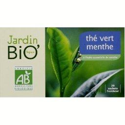 Thé vert menthe à l'huile essentielle de menthe BIO