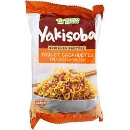 Nouilles sautées Yakisoba poulet cacahuètes