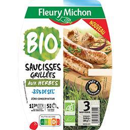 Saucisses cuites aux herbes BIO