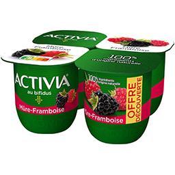 Activia - Lait fermenté mûre framboise