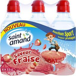 Eau minérale naturelle saveur fraise