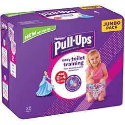 Huggies Couche culotte Pull-Ups fille, T 18-23 kg le paquet de 25