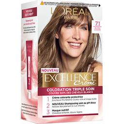Excellence - Crème colorante triple soin blond centr...
