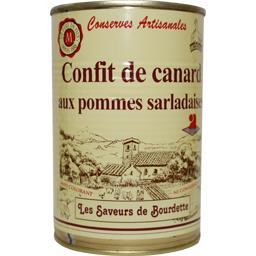 Saveurs de bourdette Confit de canard aux pommes sarladaises La boîte de 380 gr