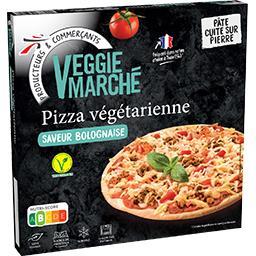 Pizza végétarienne saveur bolognaise