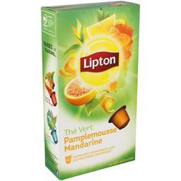 Capsules de thé vert pamplemousse mandarine