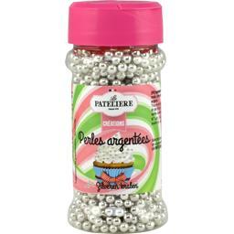Créations - Perles argentées en sucre