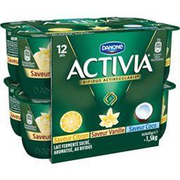 Activia - Lait fermenté 3 saveurs