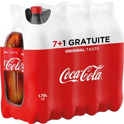 Coca-Cola Soda au cola Original les 7 bouteilles de 1,75 l