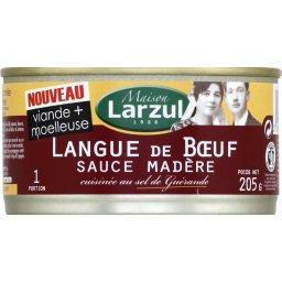 Langue de bœuf sauce madère cuisinée au sel de Guéra...