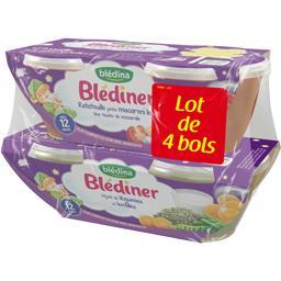 Blédîner - Ratatouille petits macaroni lait, dès 12 ...